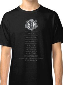 Gray Jedi Gray Lettering  Classic T-Shirt