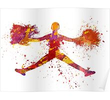 young woman cheerleader 05 Poster