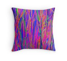 Splashes of colour - abstract Throw Pillow