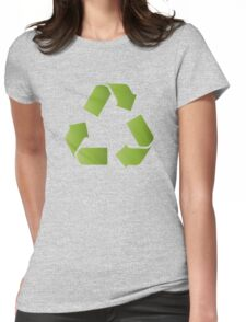 RECYCLE SYMBOL Womens Fitted T-Shirt