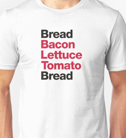 Recipe for a BLT sandwich Unisex T-Shirt