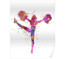 young woman cheerleader 04 Poster