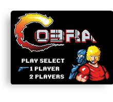 Player Select Cobra Canvas Print