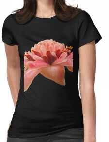 Torch ginger, black background Womens Fitted T-Shirt