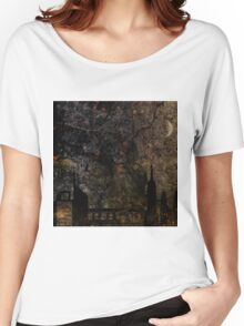 Town and spooky night, dark, night, moon, scary Women's Relaxed Fit T-Shirt