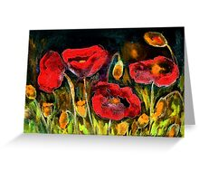 Red Explosion Greeting Card