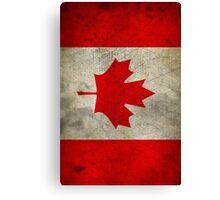 Vintage Canada Flag Canvas Print