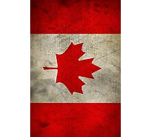 Vintage Canada Flag Photographic Print