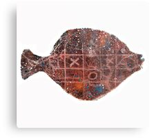 Noughts and crosses on the fish, orange, blue, red, white, black Metal Print