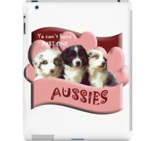 Australian Shepherd puppies iPad Case/Skin