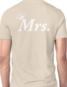 Mrs Newly Wed Honeymoon White Tiara Unisex T-Shirt