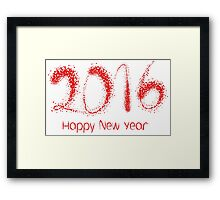 Happy New Year 2016 red Framed Print