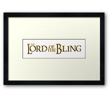 The Lord of the Bling Framed Print
