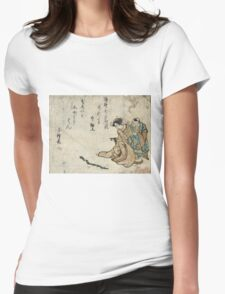 Bamboo Snake - anon - 1797 - woodcut Womens Fitted T-Shirt