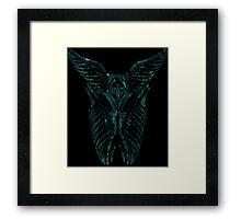 Shard Helm [ SHATTER TURQUIOSE ]  Framed Print