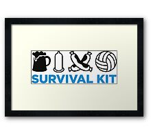 Survival Kit for Men Framed Print