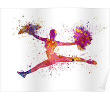 young woman cheerleader 01 Poster