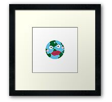 Kissing earth Framed Print