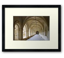 Arcade of abbey of Fontrevaud Framed Print