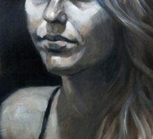 Portrait in Monochrome Sticker
