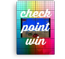 Checkpoint win Canvas Print