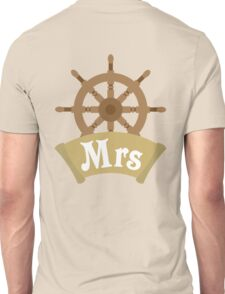 His and Hers Mr and Mrs Cruise Ship Wheel Wedding Honeymoon Unisex T-Shirt