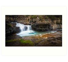 Johnston Canyon Falls - Banff National Park, Alberta, Canada Art Print