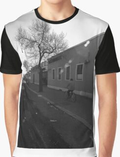 Ostia seafront: cyclist Graphic T-Shirt