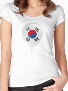 Korean flag Women's Fitted Scoop T-Shirt
