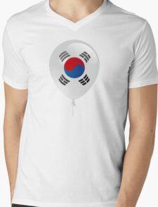 Korean flag Mens V-Neck T-Shirt