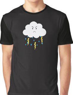 Grumpy cloud with lightnings Graphic T-Shirt