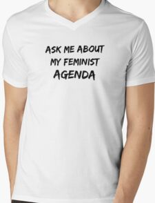 Feminist agenda Mens V-Neck T-Shirt