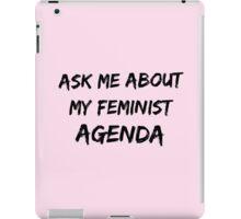Feminist agenda iPad Case/Skin