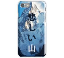 Sad mountain iPhone Case/Skin
