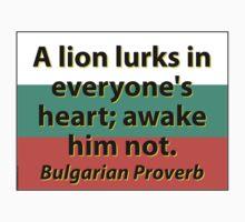 A Lion Lurks - Bulgarian Proverb One Piece - Long Sleeve