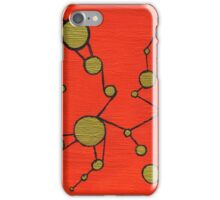 Interconnected Gold Pattern (Orange) iPhone Case/Skin