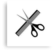 scissors & comb Canvas Print