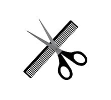 scissors & comb Photographic Print