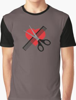 scissors & comb & heart Graphic T-Shirt