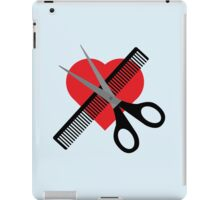 scissors & comb & heart iPad Case/Skin