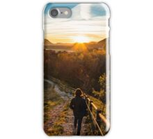 walking down to the sunset iPhone Case/Skin