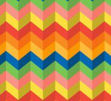 zigzag stripes Sticker