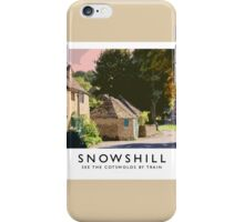 Snowshill (Railway Poster) iPhone Case/Skin