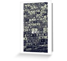 Grey Scale Cars Greeting Card