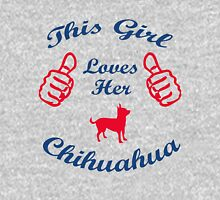 This girl loves chihuahua Womens Fitted T-Shirt