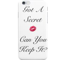 Got A Secret (White) iPhone Case/Skin