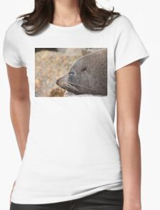 Sleeping Seal Womens Fitted T-Shirt