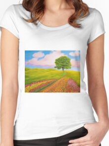 Towards Spring Women's Fitted Scoop T-Shirt