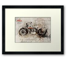 Indian 101 Scout 1931 Framed Print