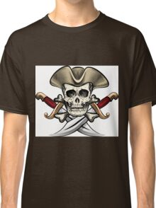 Skull in the hat Classic T-Shirt